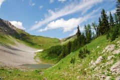 Opinión del verano sobre tapa de la montaña Fotografía de archivo libre de regalías