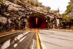 Opinión del viaje de Yosemite del túnel fotos de archivo libres de regalías