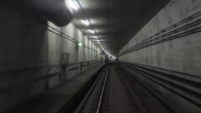 Opinión del viaje del subterráneo almacen de metraje de vídeo