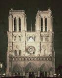Opinión del vintage de Notre Dame de París - Francia Foto de archivo