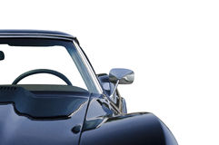 Opinión delantera aislada azul del coche de deportes media Fotos de archivo