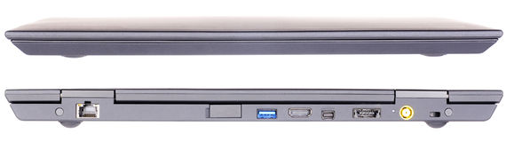Opinión delantera y trasera de la computadora portátil Fotografía de archivo libre de regalías