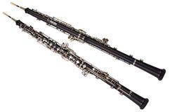 Opinión delantera y trasera del oboe fotografía de archivo