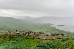 Opinión desde arriba sobre el lago Vinsternvatn Fotos de archivo libres de regalías