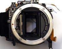 Opinión desmontada del primer del parte movible de la lente de DSRL foto de archivo