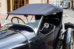 Opinión detallada del coche retro de Bugatti, primer Foto de archivo libre de regalías