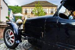 Opinión detallada del coche retro de Bugatti, primer Foto de archivo