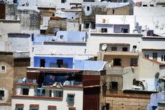 Opinión detallada sobre Chefchaouen, Marruecos Fotografía de archivo
