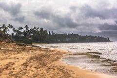 Opinión Diamond Beach Park, Oahu, Hawaii fotos de archivo libres de regalías