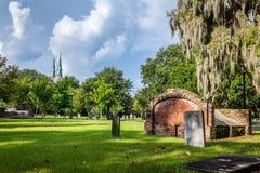 Opinión diurna del cementerio imagen de archivo libre de regalías