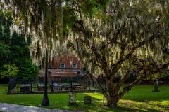 Opinión diurna del cementerio imágenes de archivo libres de regalías
