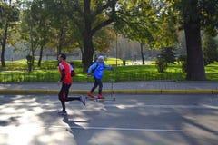 Opinión divertida del maratón de Sofía Imagen de archivo