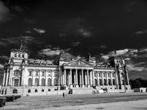 Opinión dramática de Reichstag imágenes de archivo libres de regalías