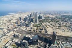 Opinión Dubai de la ciudad fotos de archivo libres de regalías