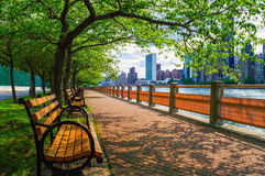 Opinión East River del verano Imagen de archivo libre de regalías