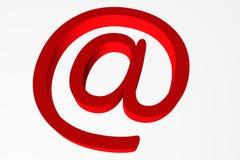 Opinión el caracol rojo en el ejemplo blanco del fondo 3d fotografía de archivo libre de regalías