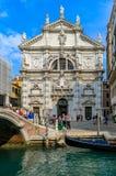 Opinión el Chiesa icónico di San Moise, un estilo barroco, C romana imágenes de archivo libres de regalías