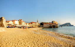 Opinión el graduado de Stari (ciudad vieja) Budva, Montenegro fotografía de archivo libre de regalías