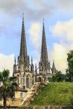 Opinión el Notre Dame Cathedral en Bayona, Francia Imágenes de archivo libres de regalías