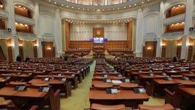 Opini?n el parlamento rumano del interior Bucarest, Rumania metrajes