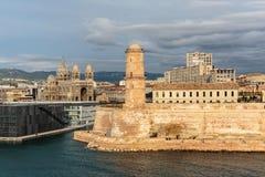 Opinión el santo Jean del puerto viejo y del fuerte en Marsella, imágenes de archivo libres de regalías