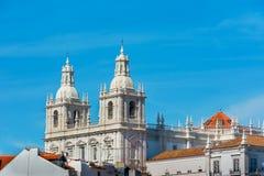 Opinión el santo Vicente de Fora Monastery, Portugal de Lisboa Imagen de archivo libre de regalías