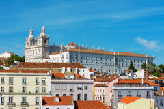 Opinión el santo Vicente de Fora Monastery, Portugal de Lisboa Imágenes de archivo libres de regalías