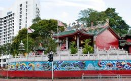 Opinión el Tua Pek Kong Chinese Temple imagen de archivo libre de regalías
