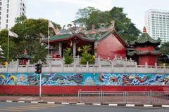 Opinión el Tua Pek Kong Chinese Temple foto de archivo libre de regalías