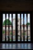 Opinión en el castillo del agua de la sari del taman - el jardín real de la ventana del sultanato de Jogjakarta Imagenes de archivo