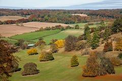 Opinión en el Chilterns, Inglaterra del paisaje del otoño fotos de archivo