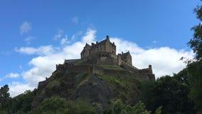 opinión en tiempo real del castillo de Edimburgo, Escocia de 4K UltraHD almacen de video