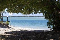 Opinión enmarcada de la playa imagen de archivo
