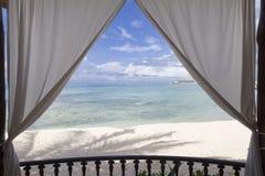 Opinión enmarcada de la playa Fotografía de archivo libre de regalías