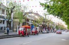 Opinión escénica Dali Old Town en Yunnan, China Es un destino turístico famoso de Asia Imagenes de archivo