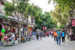 Opinión escénica Dali Old Town en Yunnan, China Es un destino turístico famoso de Asia Imágenes de archivo libres de regalías