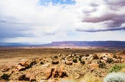 Opinión escénica de las montañas, barranco de mármol Hwy 89 Imagen de archivo libre de regalías