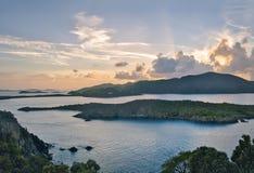 Opinión escénica del Caribe de British Virgin Islands foto de archivo