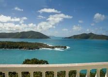 Opinión escénica del Caribe de British Virgin Islands imagen de archivo libre de regalías