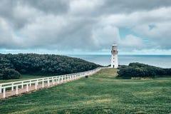 Opini?n esc?nica del faro de Otway del cabo, Australia, Victoria fotos de archivo