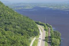 Opinión escénica del río Misisipi Fotos de archivo libres de regalías