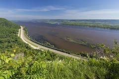 Opinión escénica del río Misisipi Foto de archivo
