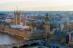 Opinión escénica panorámica hermosa sobre la pieza meridional de Londres de w Imagen de archivo
