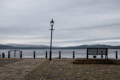 Opinión escocesa de la bahía Fotos de archivo