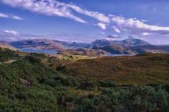 Opinión Escocia de Kylesku Sutherland Imagen de archivo