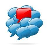 Opinión especial - concepto social de los media Imágenes de archivo libres de regalías