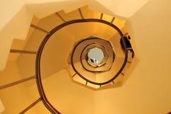 Opinión espiral de las escaleras Fotos de archivo libres de regalías