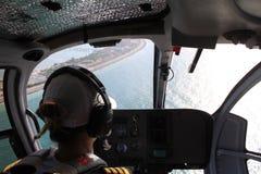 Opinión experimental de la cabina del helicóptero Foto de archivo