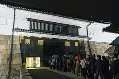 Opinión exterior de la noche del castillo de Nijo fotos de archivo