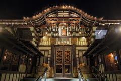Opinión exterior de la noche del Yamashiro famoso Hollywood imagen de archivo libre de regalías